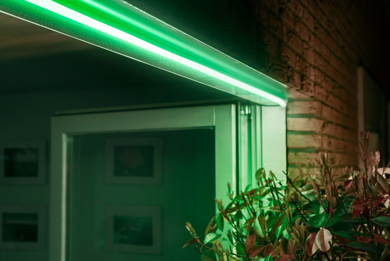 Philips Hue LED Strip für den Garten