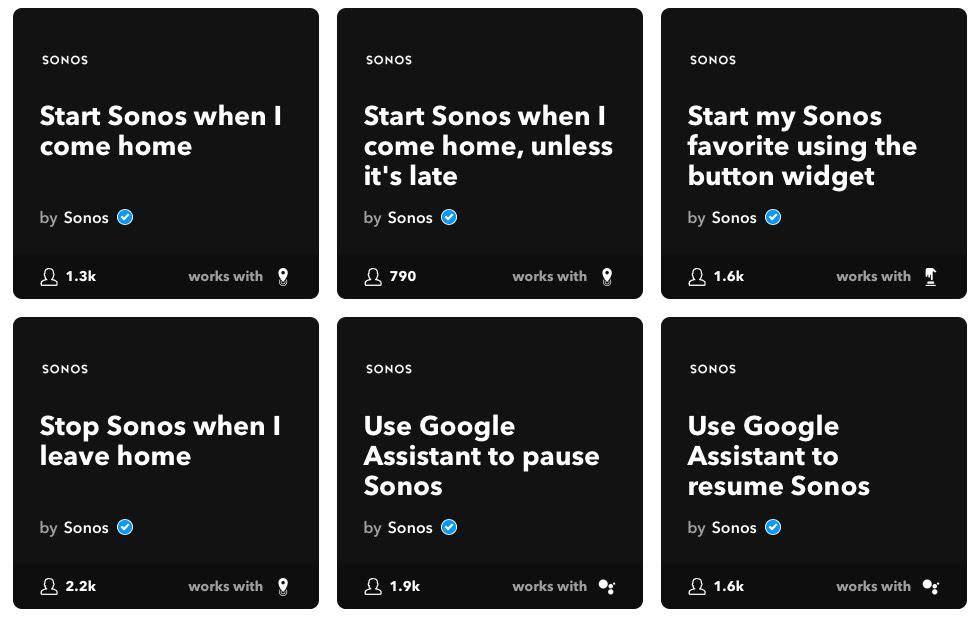 Sonos Tipps: Ifttt-Integration