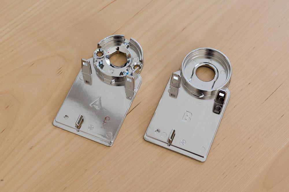 Adapter-Platten für das Türschloss
