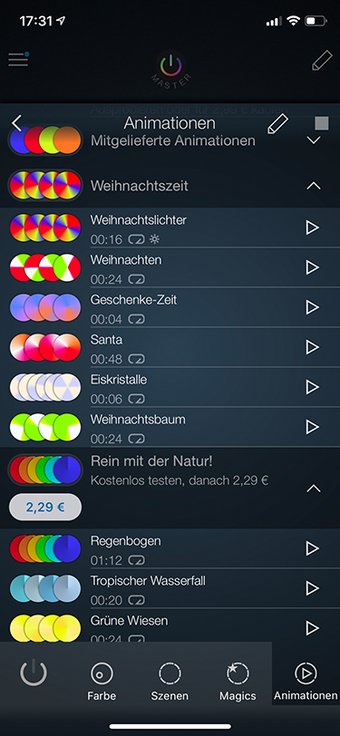 Philips Hue Tipps: Screenshot iConnect Hue