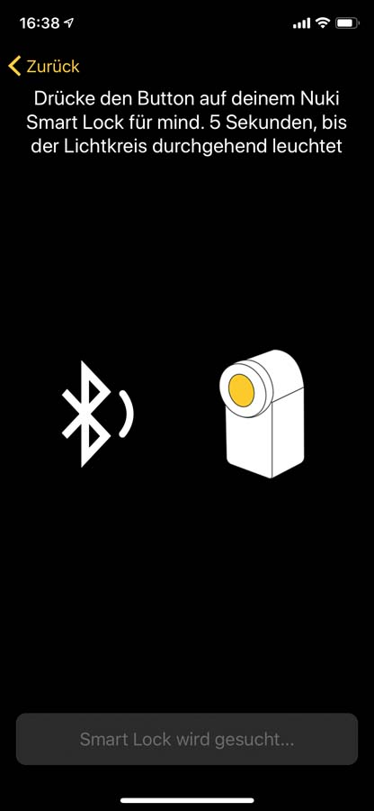 Nuki App - Einrichtung