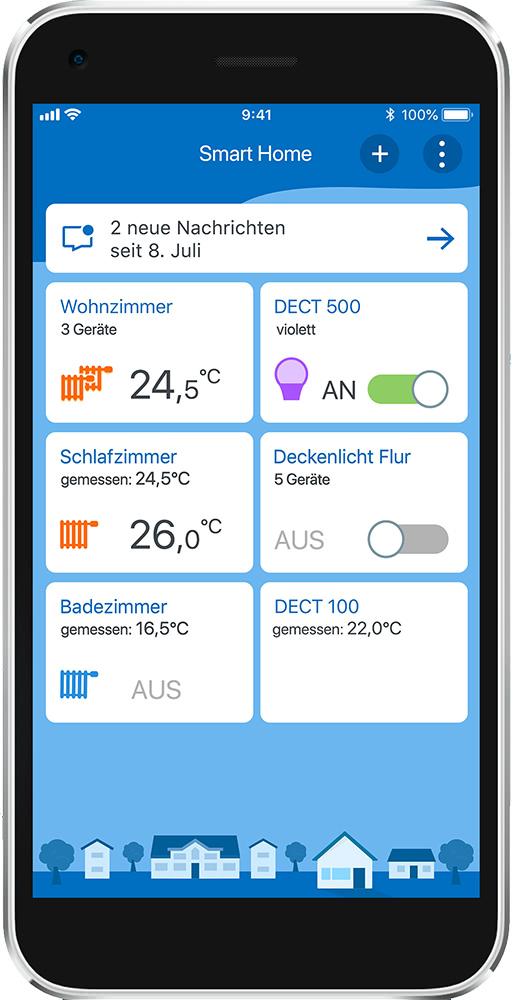 Smart Home App von AVM