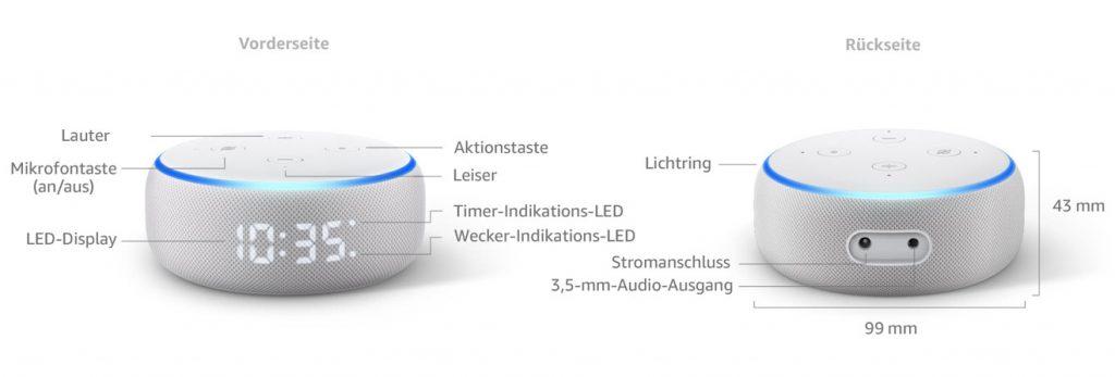Echo Dot mit Uhr 3. Generation