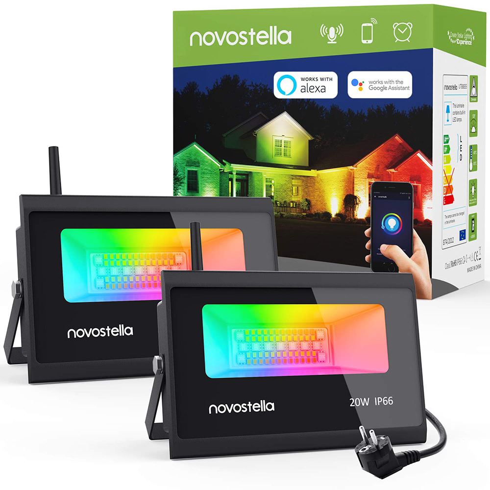 Novostella RGB LED LED Strahler mit Alexa