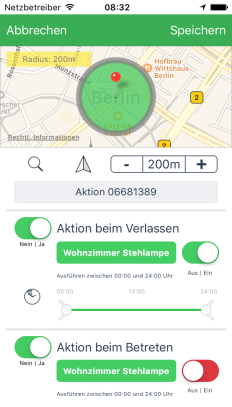 Geonfencing AVM Smart Home