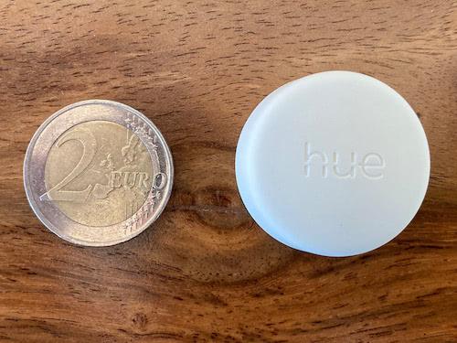 Hue Smart Button Größenvergleich