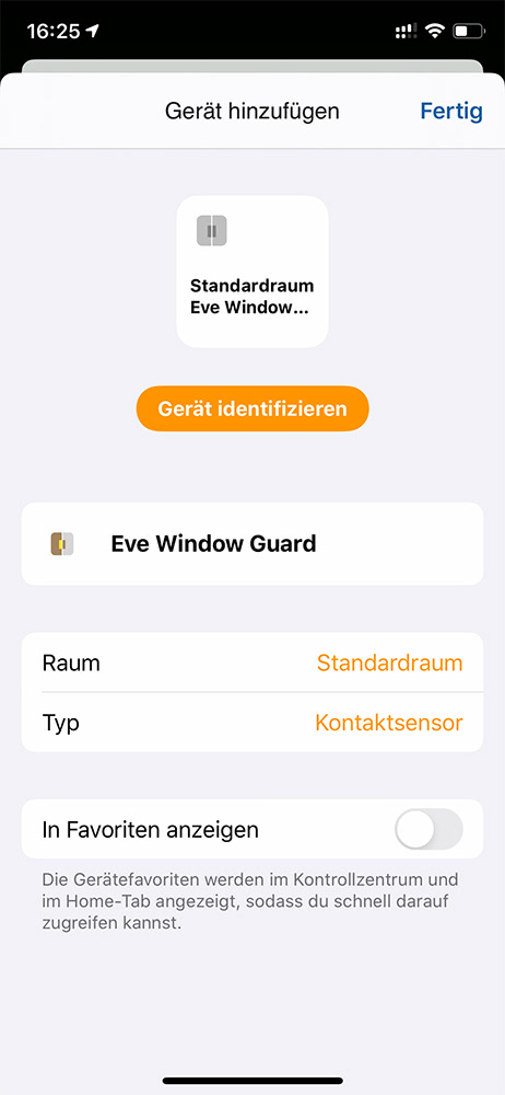 Eve HomeKit Fenstersensor