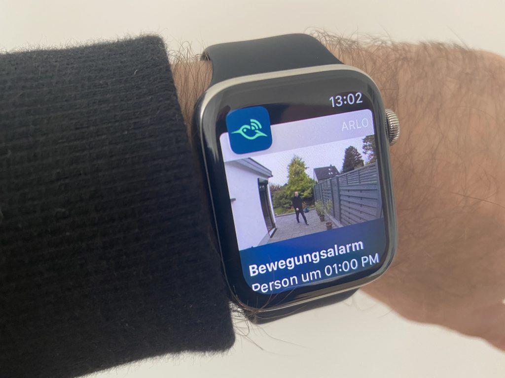 Arlo-Benachrichtigung auf der Apple Watch