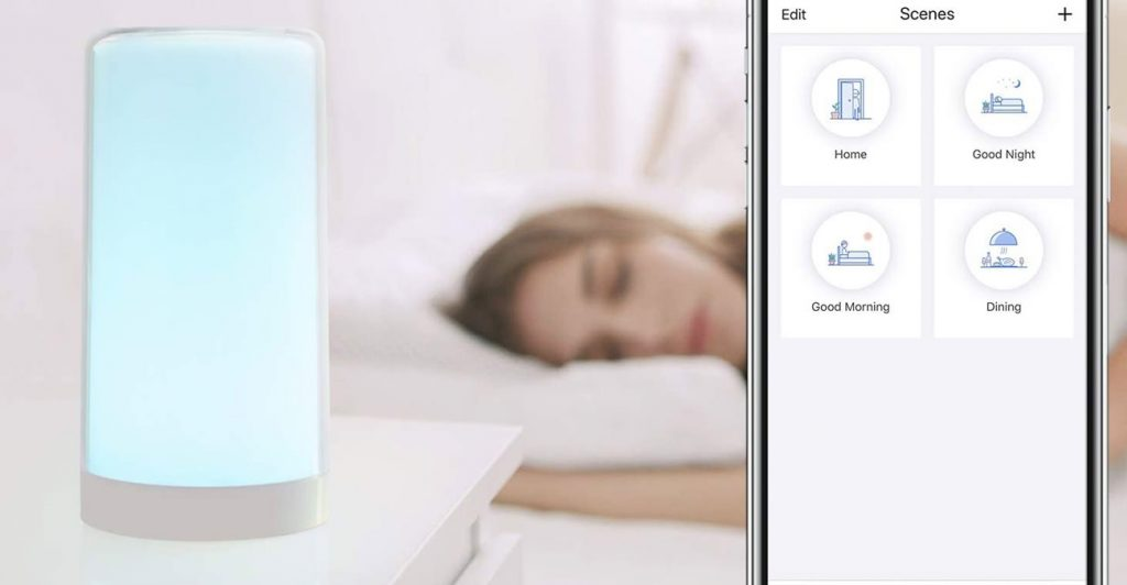 HomeKit-Nachttischlampe