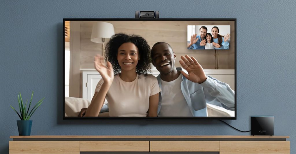 Videokonferenz mit Fernseher